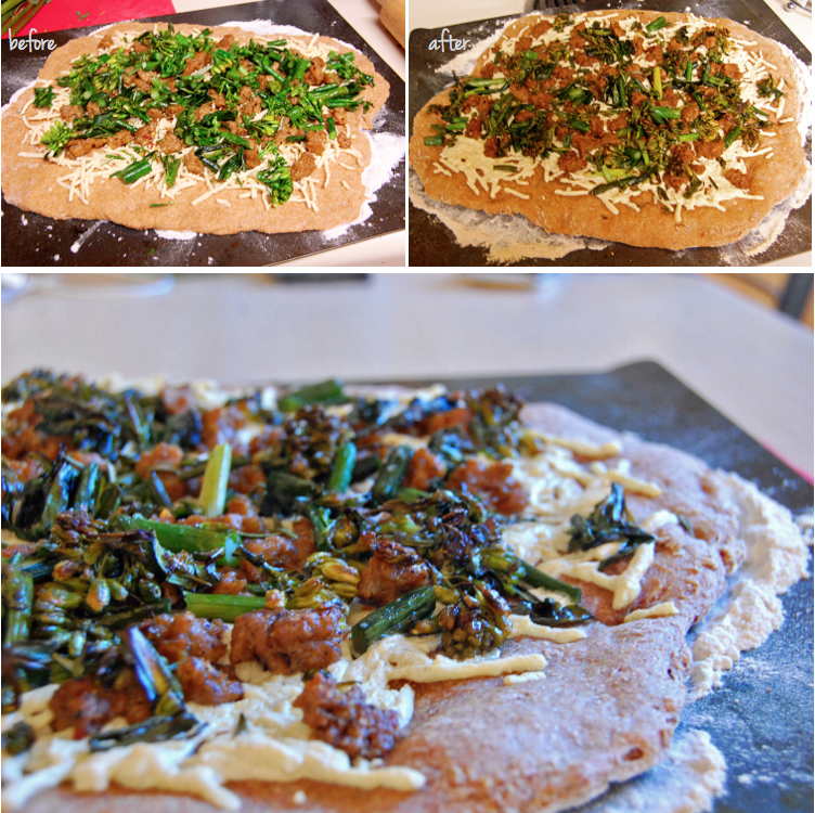 Whole-Wheat Pizza With Broccoli Rabe And Turkey Sausage ...